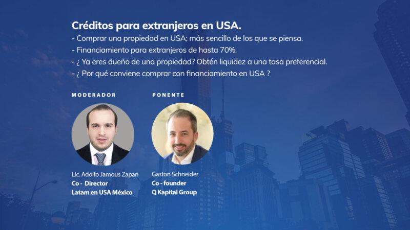 Créditos para extranjeros en USA